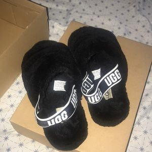 Black UGG Sandals (ONLY WORN TWICE)